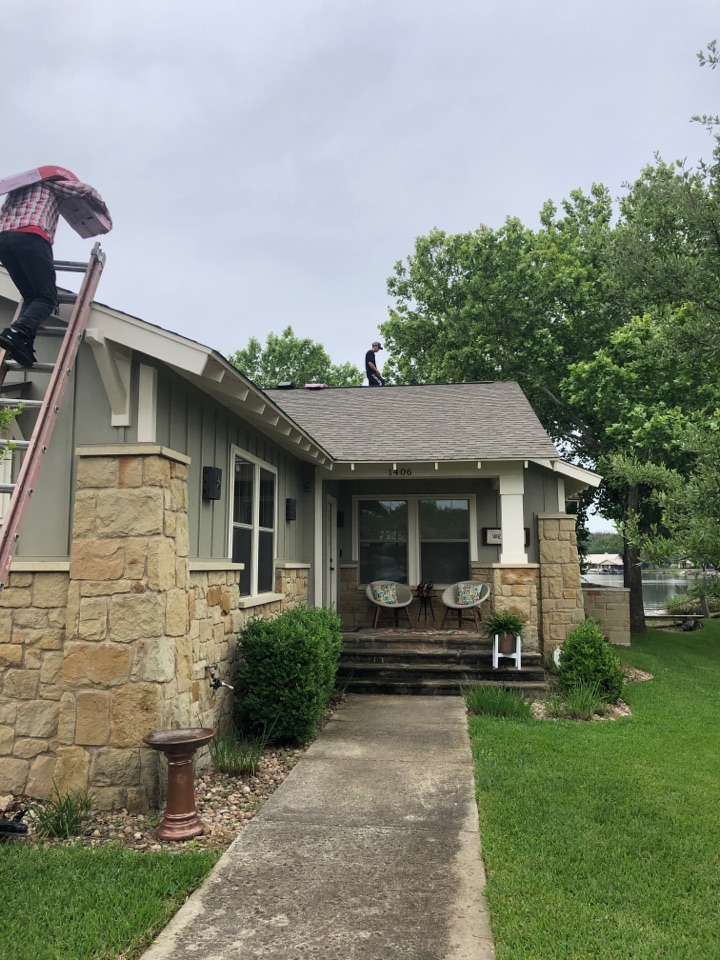 Marble Falls, TX - Customer had damaged vents from an animal trying to gain entry. Temporarily covered up the holes, and now we are replacing the damaged vents.