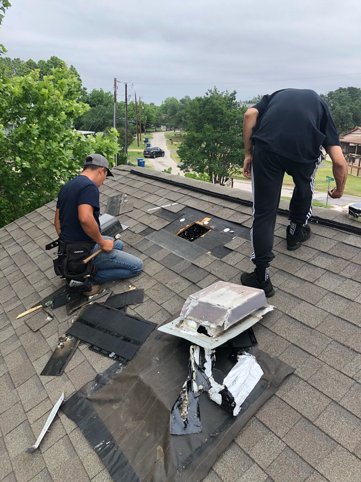 Marble Falls, TX - Removing and replacing damaged vents.