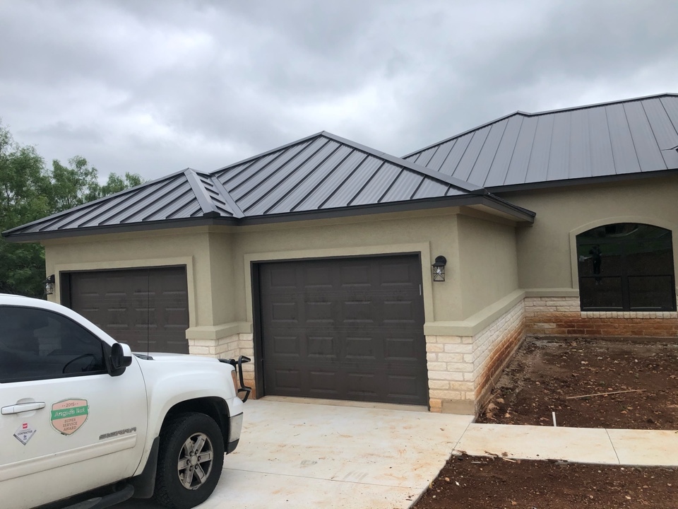 Horseshoe Bay, TX - Customer is building a new home. Quoting gutters around entire home to prevent erosion and water stain on rock work.