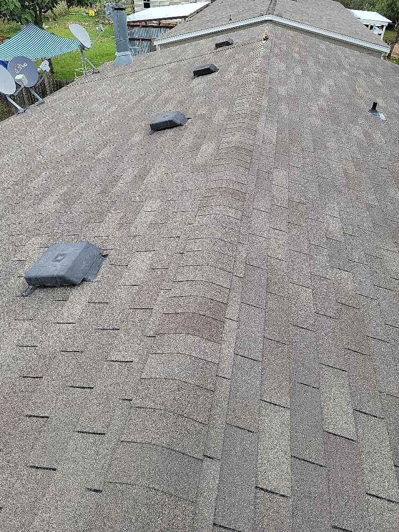 Llano, TX - Hail damage roof inspection