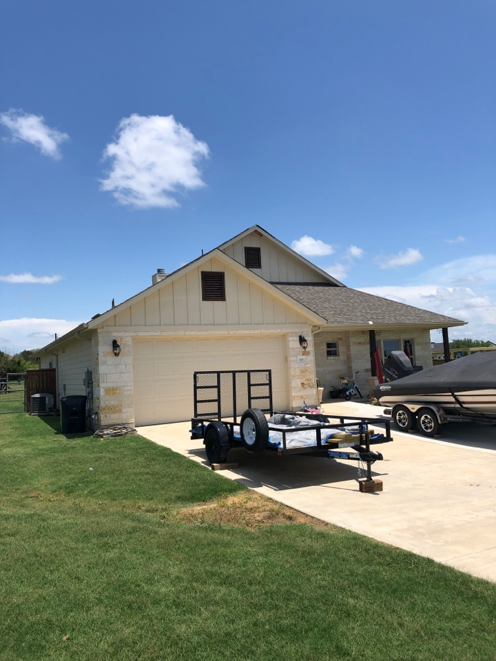 Bertram, TX - Customer had a hail damaged roof. Writing a quote to remove and replace it.