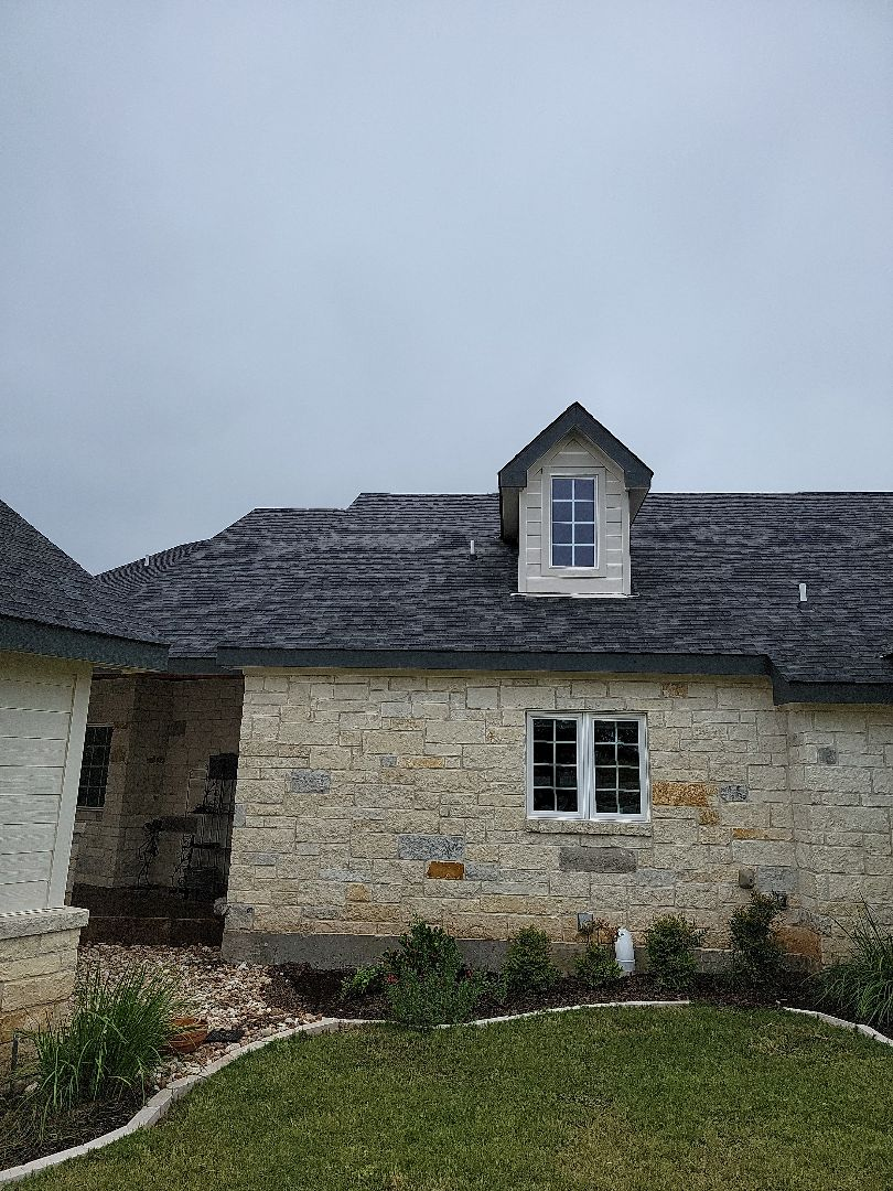 Marble Falls, TX - Storm damage due to hail. Roof and gutter estimate.