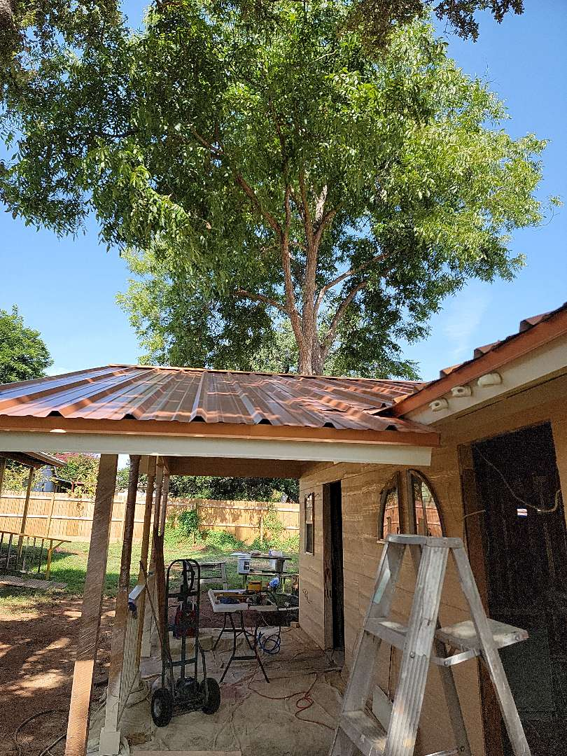 Horseshoe Bay, TX - Hail damage to gutters and roof. Gutter and roof estimate