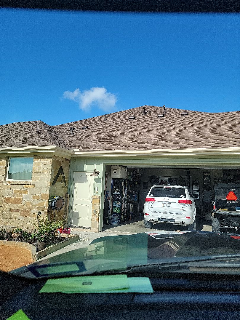 Bertram, TX - Hail damage to gutters. Gutter estimate and roof inspection