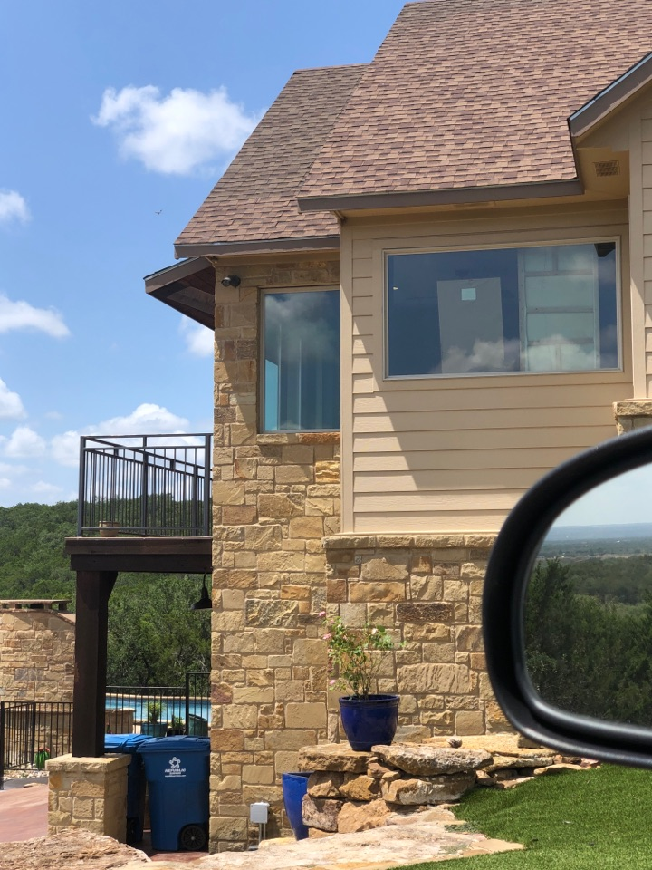 """Marble Falls, TX - Quoting a 6"""" gutter installation on a home in marble falls."""