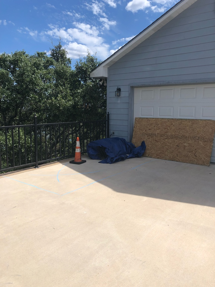 Sunrise Beach Village, TX - Staging a material drop off for a roof replacement in sunrise beach