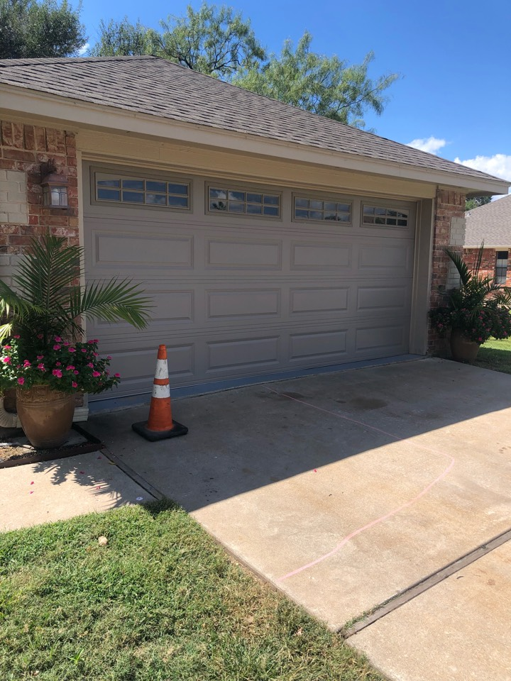 Meadowlakes, TX - Prepping a material drop off for a roof replacement in meadowlakes