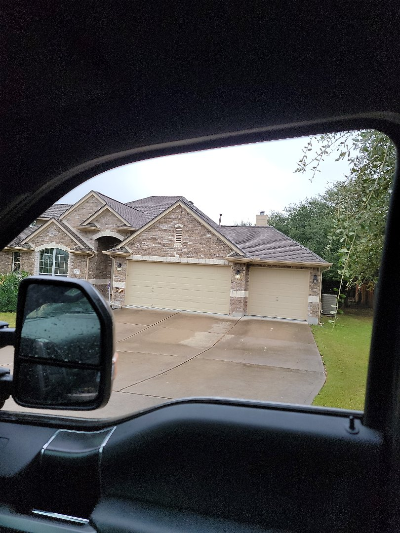 Spicewood, TX - Storm damage. Gutter estimate and roof inspection