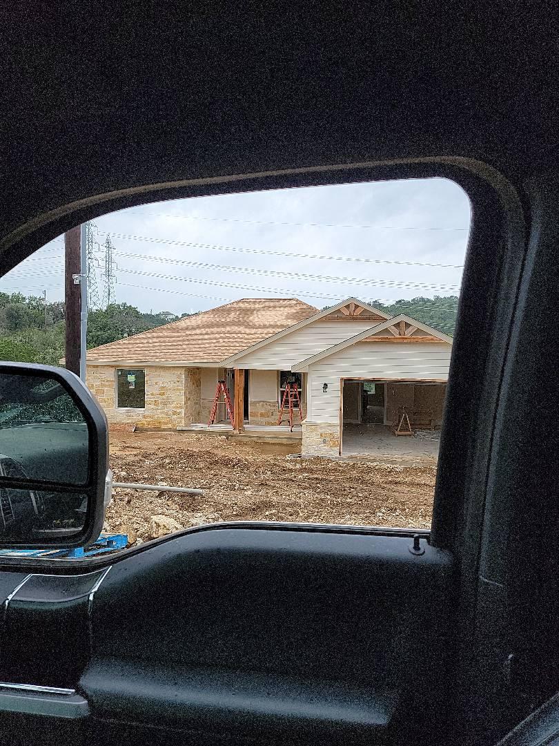 Marble Falls, TX - New construction. Gutter estimate