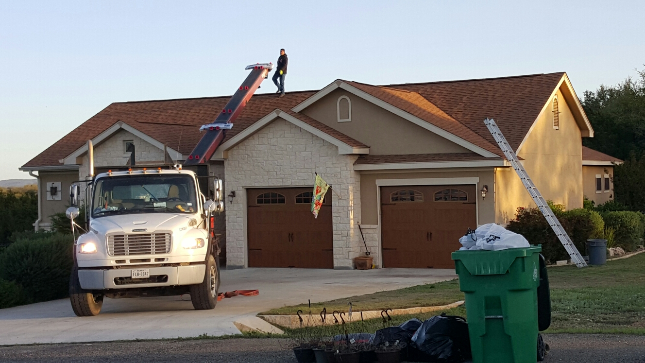 Blanco, TX - Architectural shingle roof replacement