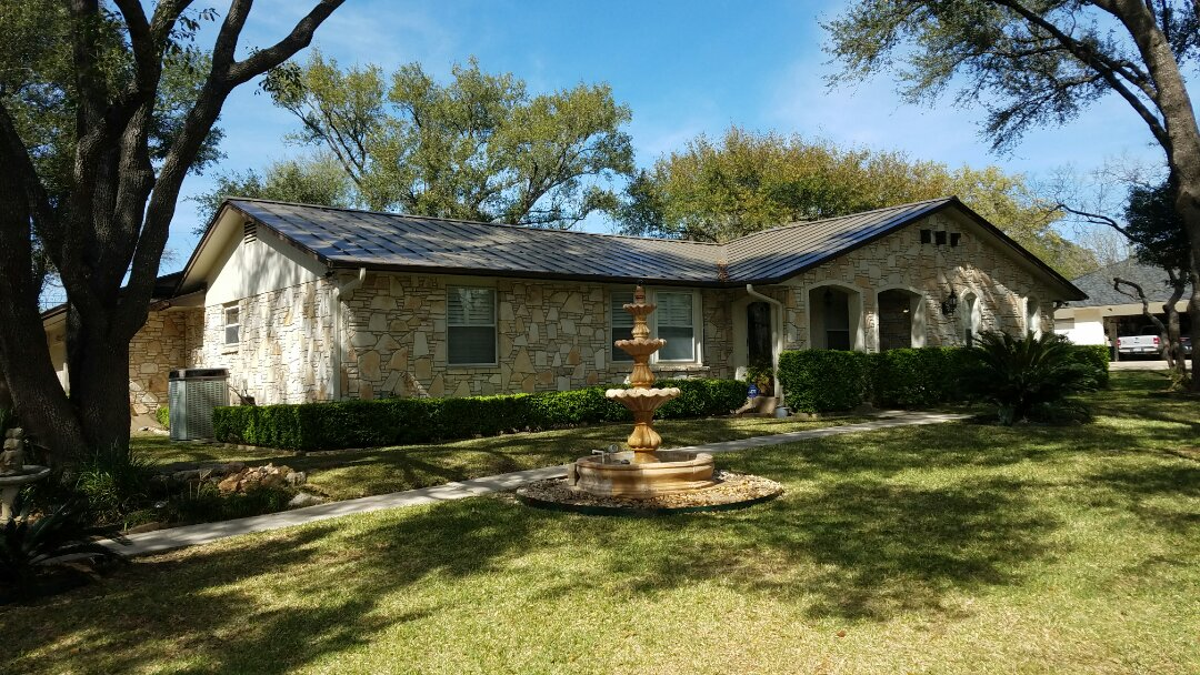 Shavano Park, TX - New metal roof and Gutters with Starr Roofing and gutters