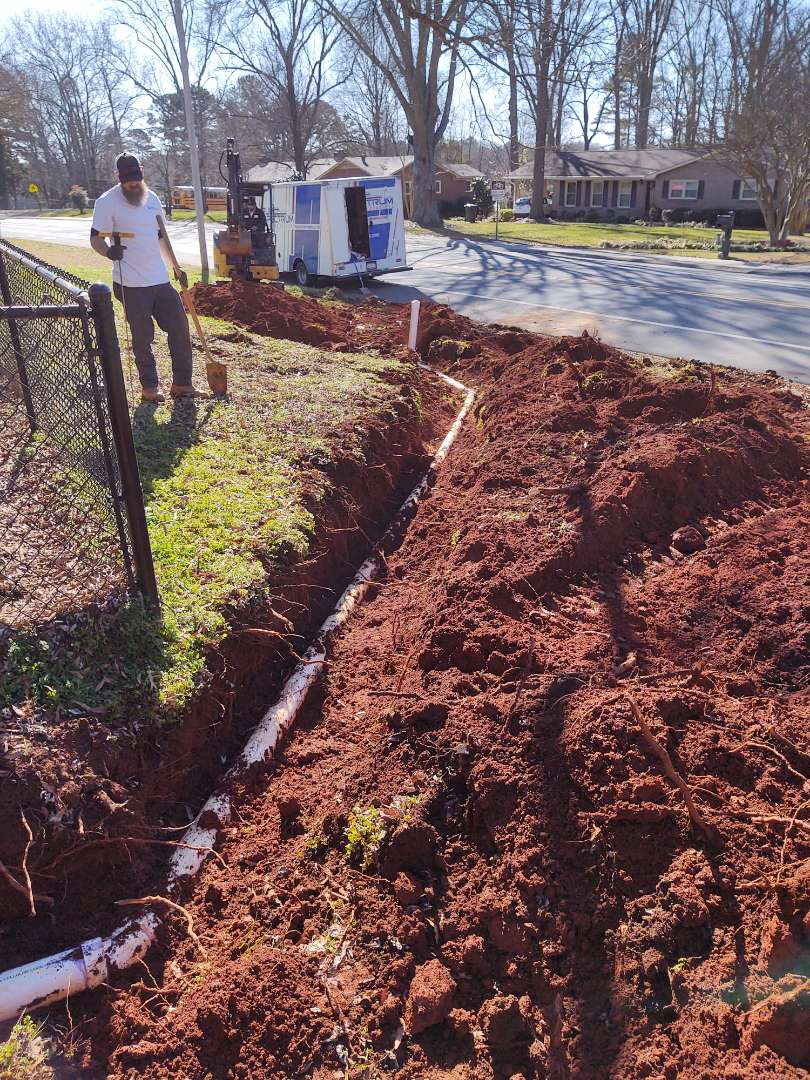 Rock Hill, SC - New sewer line on university drive Rock Hill South Carolina