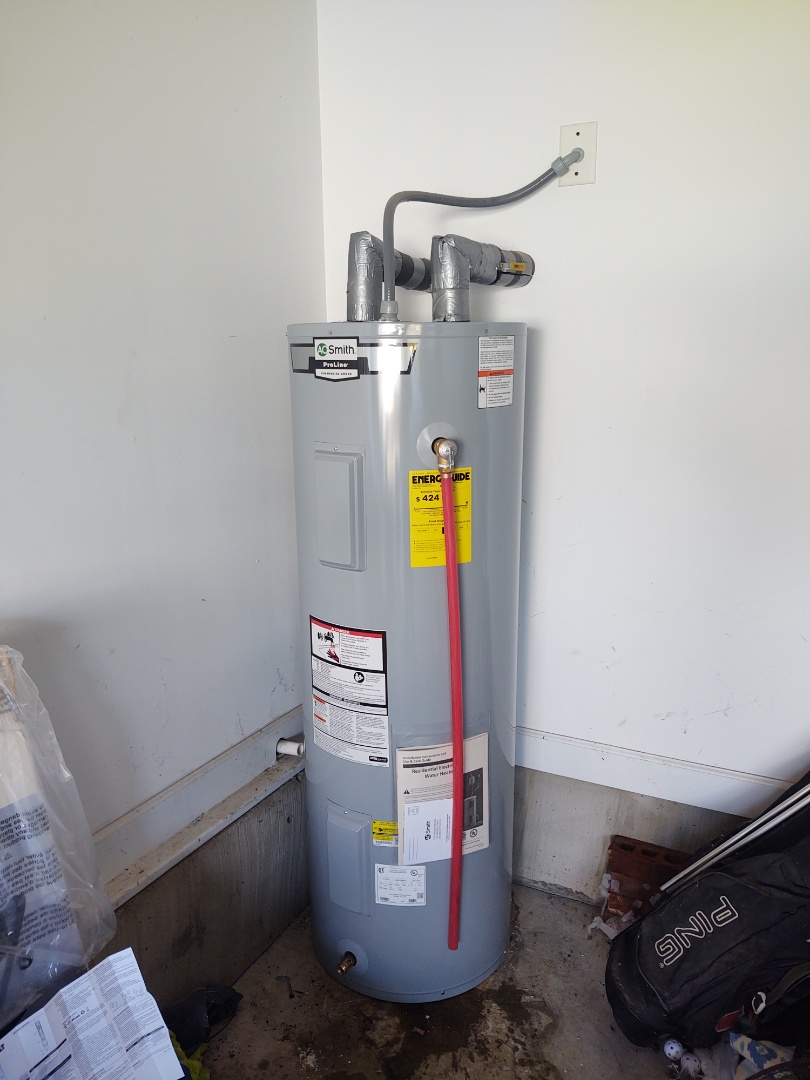 York, SC - Installed new 50 gallon electric water heater in York