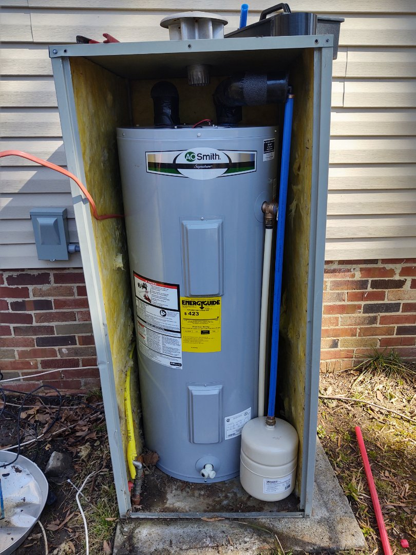 York, SC - Installed new electric water heater in York South Carolina