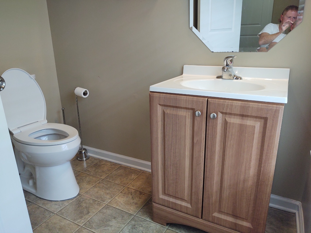 Came out and installed two customer supply toilets and also a vanity in Rock Hill South Carolina