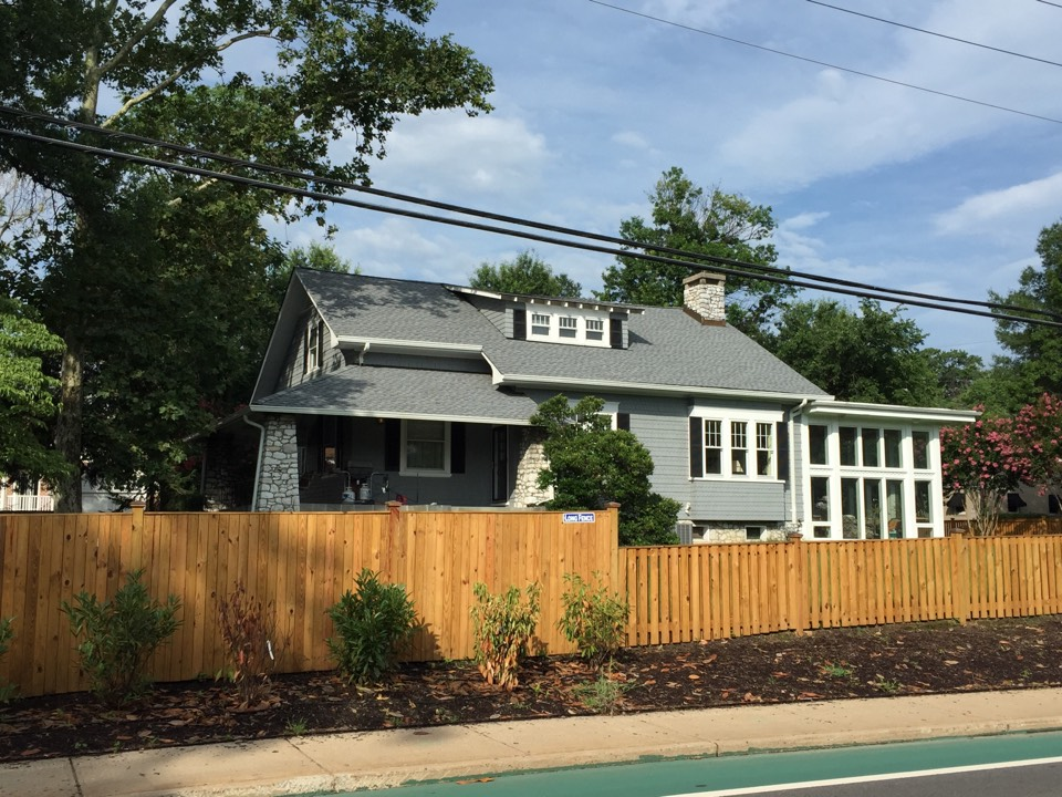Alexandria, VA - New GAF timberline shingle roof in oyster grey, oyster grey is quickly becoming my new favorite color.