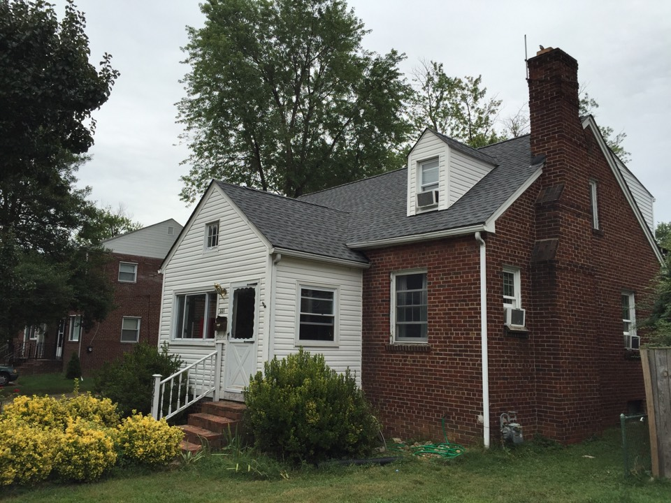 Alexandria, VA - Just finished a new GAF timberline HD shingle roof in the pewter gray