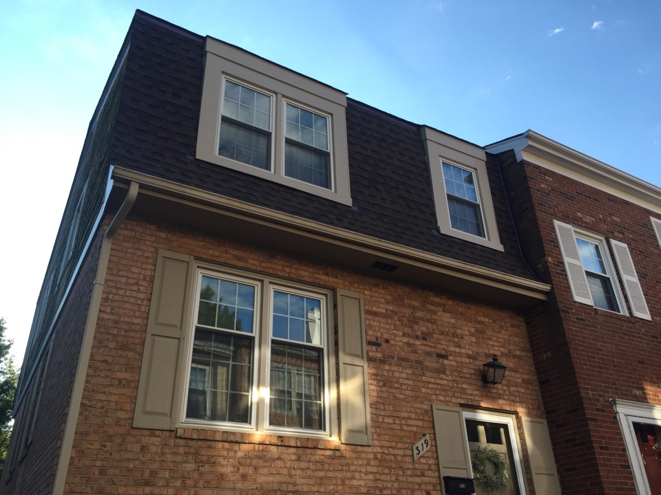 Alexandria, VA - Just finished this townhouse roof, it's GAF timberline in Barkwood