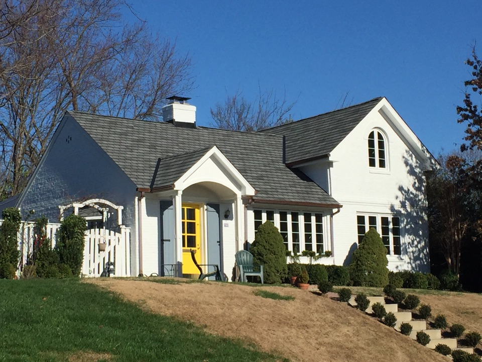 Alexandria, VA - GAF Slateline shingles with new gutters