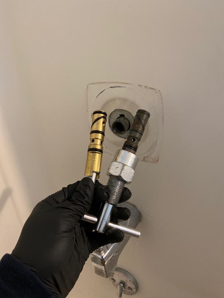 Meriden, CT - Replacing MOEN 1200 cartridge to take care of a leaking shower fixture.