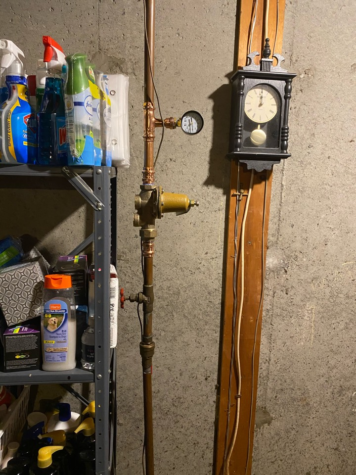 Meriden, CT - Installed a pressure reducing valve to reduce the pressure from 110psi down to 70psi working pressure.