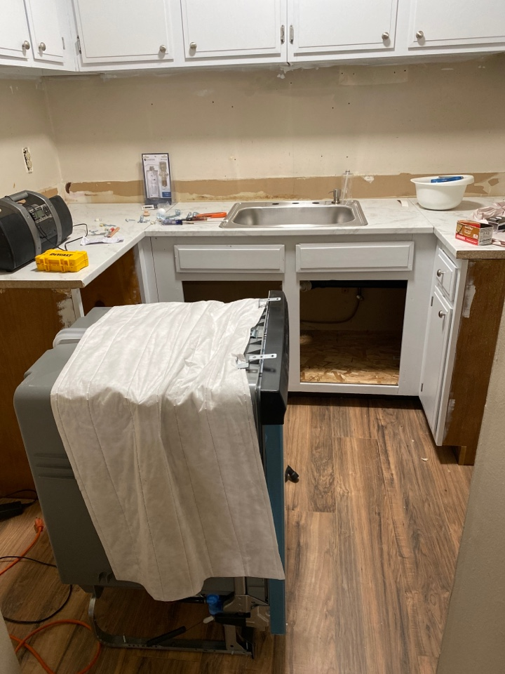 Southington, CT - Installing a Frigidaire dishwasher, Glacier Bay kitchen faucet and trapping out the drain today in Southington, CT!