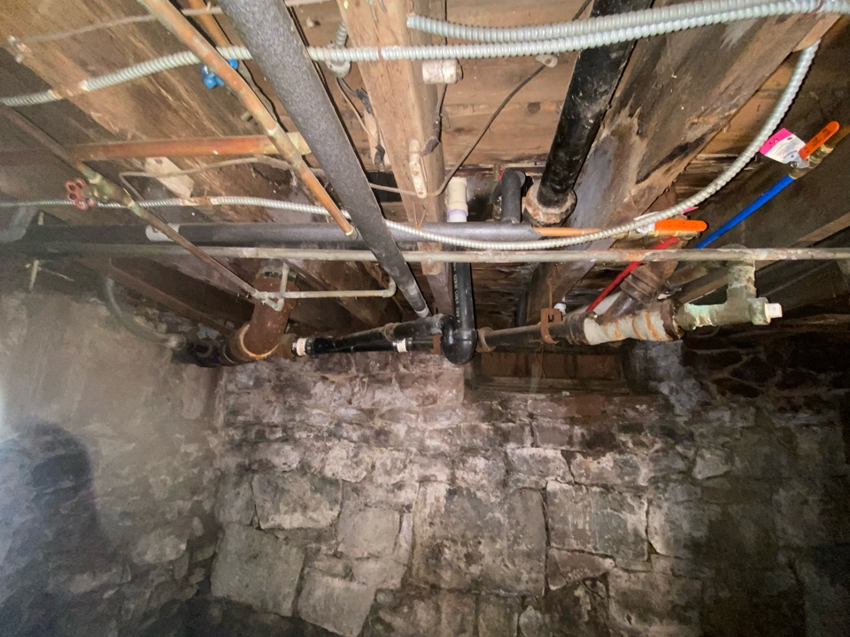 Meriden, CT - Replacing all the old cast iron drainage Piping  with new pvc fittings and drain lines to remedy a few leaks on the line.