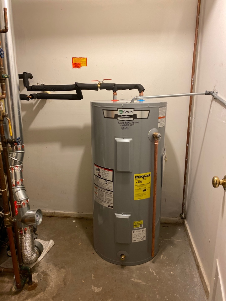 Meriden, CT - A. O. Smith Proline Electric Water heater upgrade from a 40 gallon to a 50 gallon