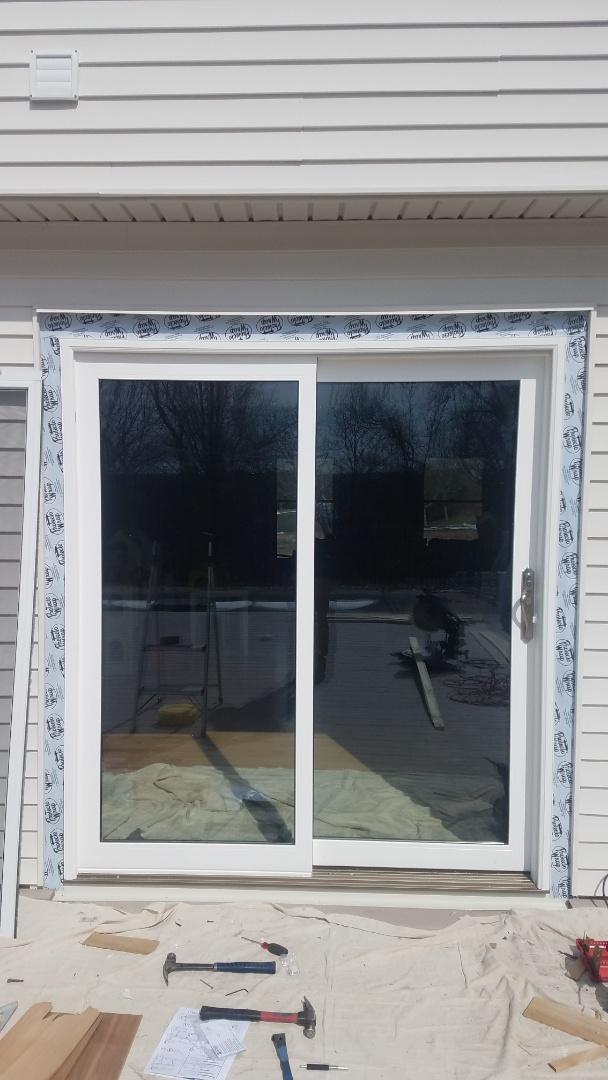 Portland, CT - New Vangard sliding Patio Door being installed