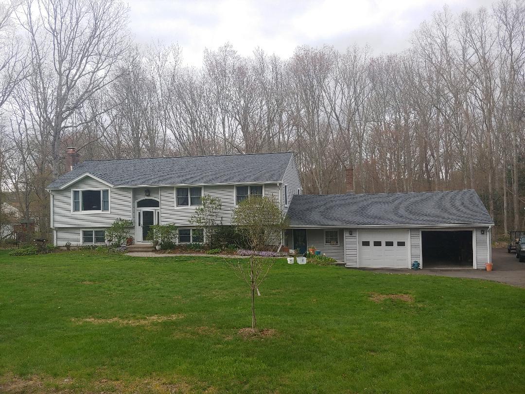 Marlborough, CT - New roof.Pewter Gray.