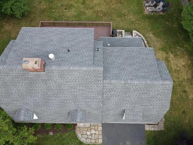 Glastonbury, CT - New roof with GAF Timberline HDZ shingles in the color Pewter Grey