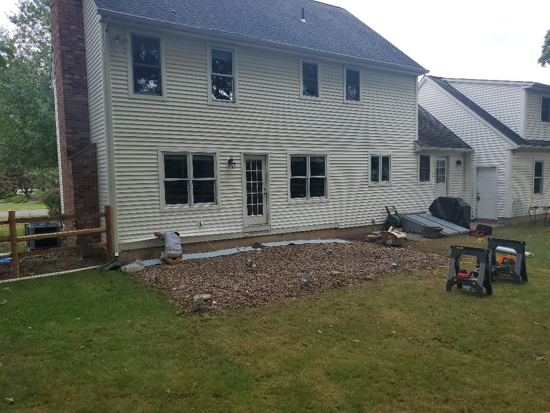Manchester, CT - Day 1 Helical Pies are in. Getting ready to start framing on this porch