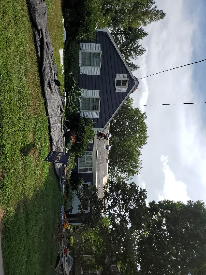 Wethersfield, CT - New roof. Charcoal.EPDM rubber on low pitch.