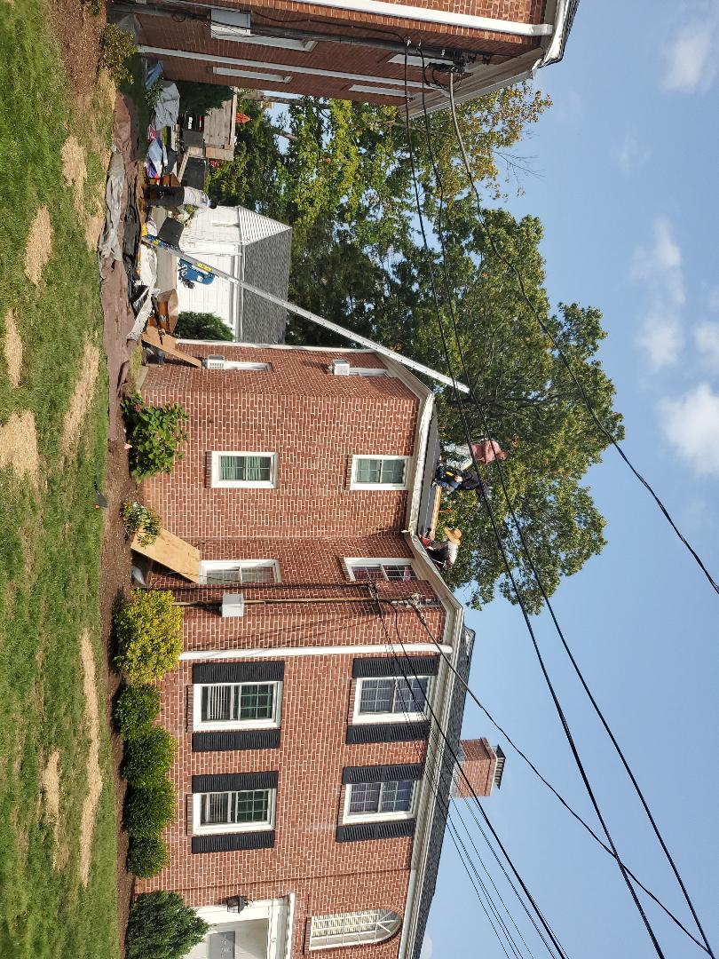 Manchester, CT - Roofing repair work.