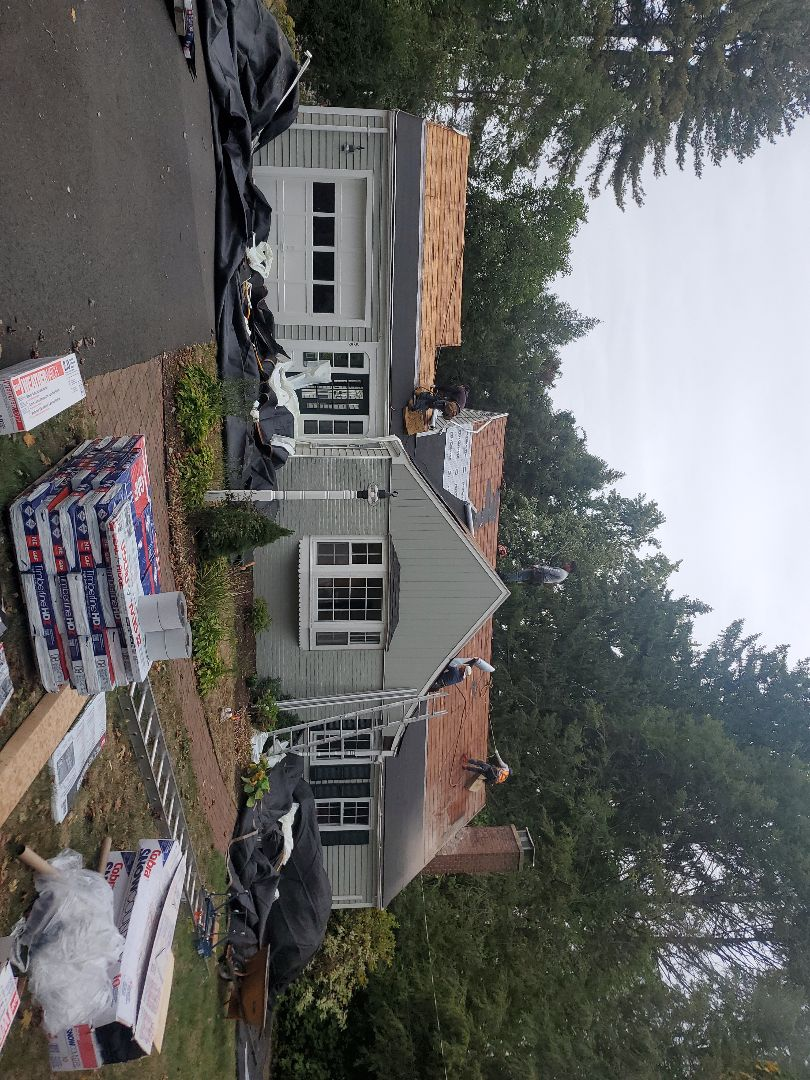 Glastonbury, CT - New front roof.Pewter Gray.Storm damage.