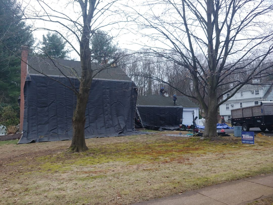 Glastonbury, CT - New GAF roof.(2 layer removal)(Pewter Gray)