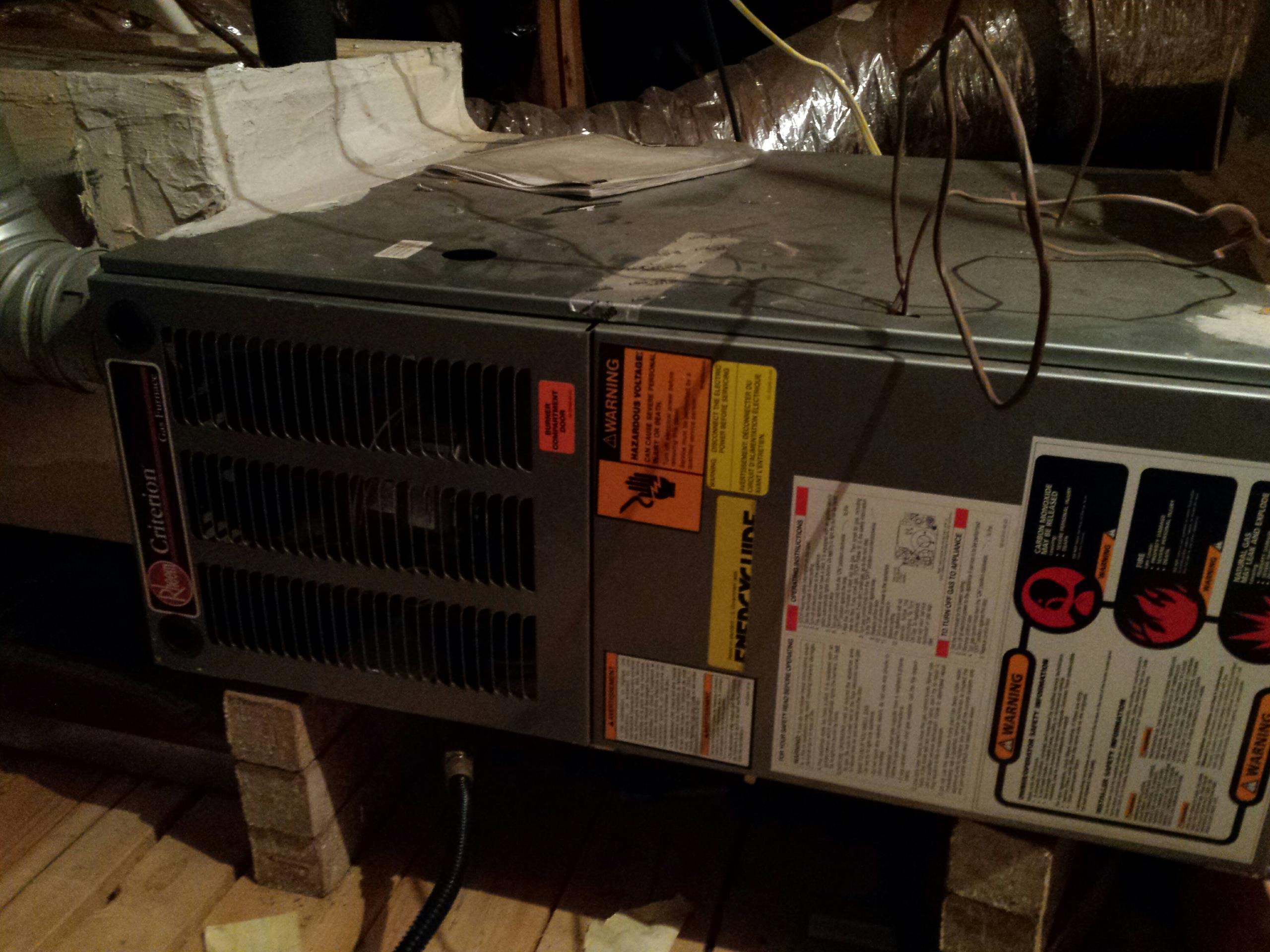 Cypress, TX - AC repair in Cypress, Texas in a nice warm attic
