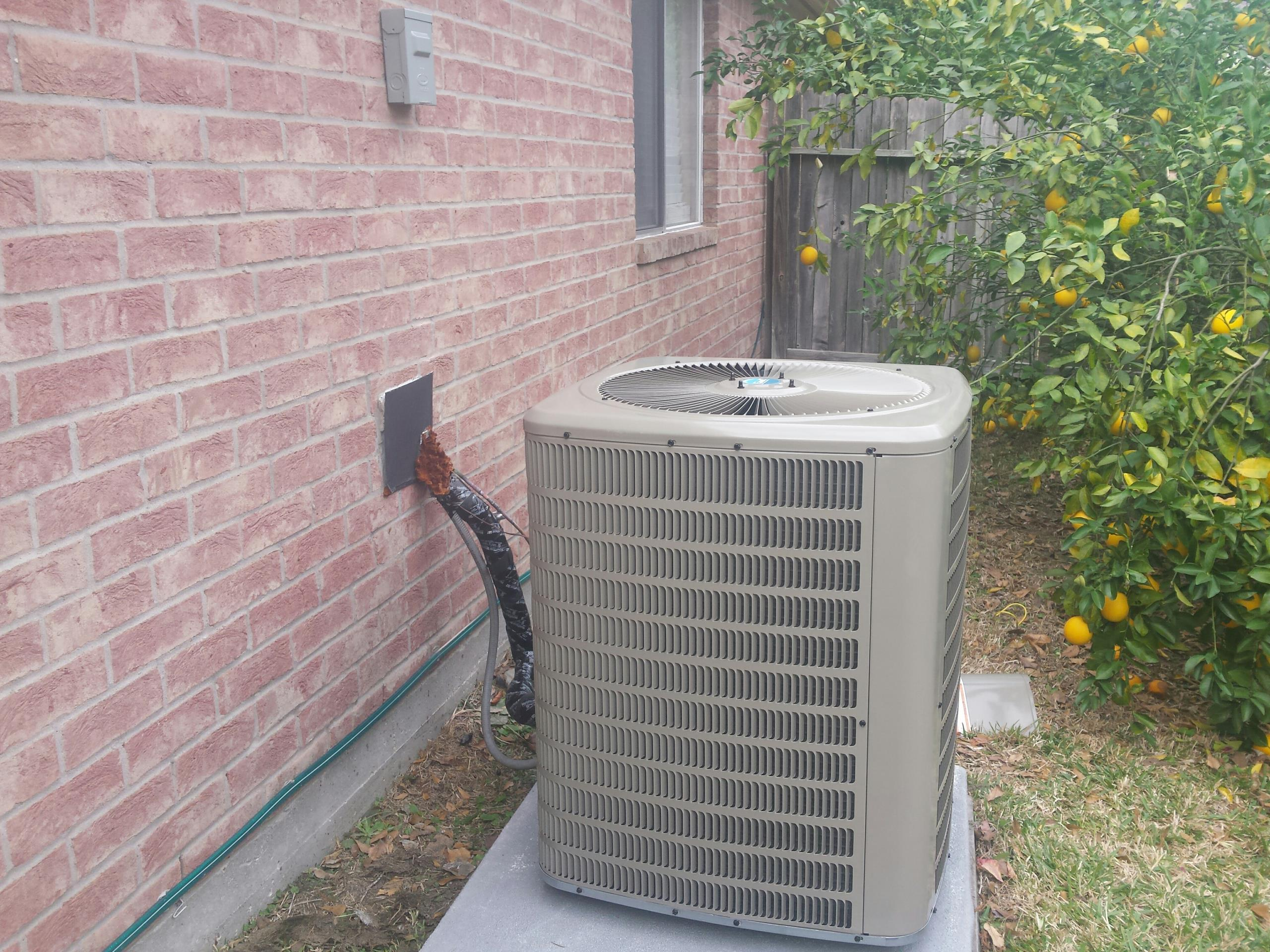 Cypress, TX - Long time customer. R22 Freon to R410a conversion. Avoid high freon prices upgrade AC system to R410a.