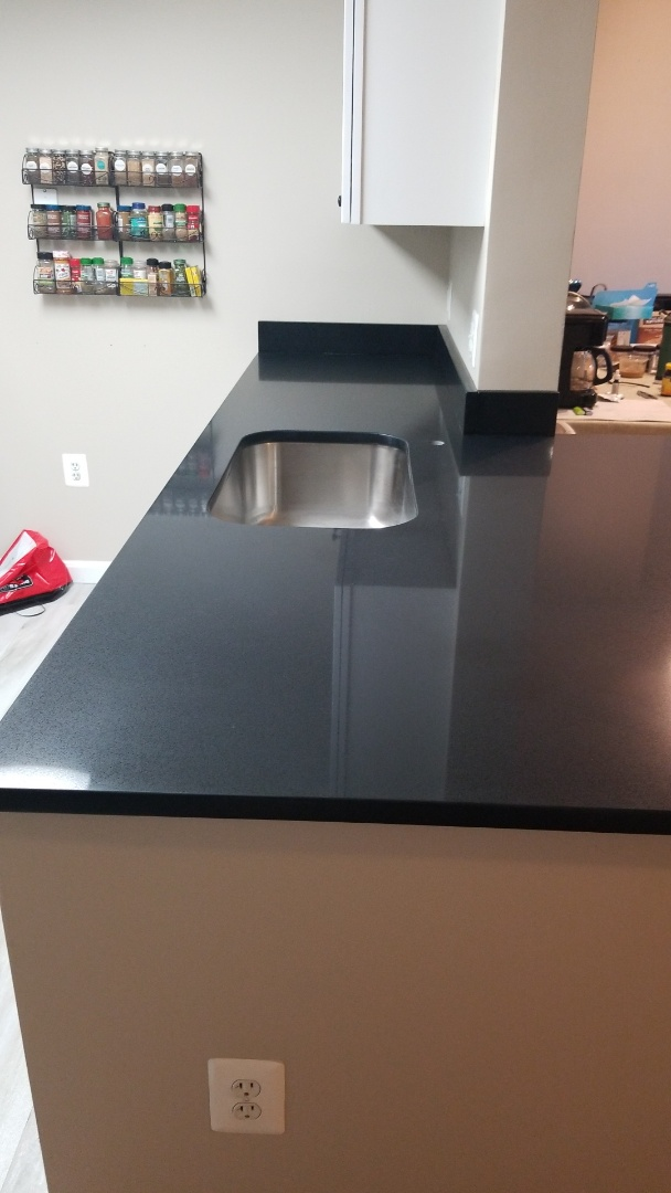 Rockville, MD - Jet Black Caesarstone Countertops