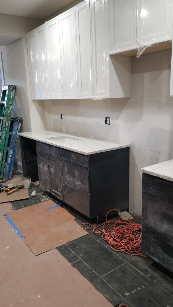 Baltimore, MD - LG VIATERA - ROCOCCO Quartz Countertops and Custom Cabinets