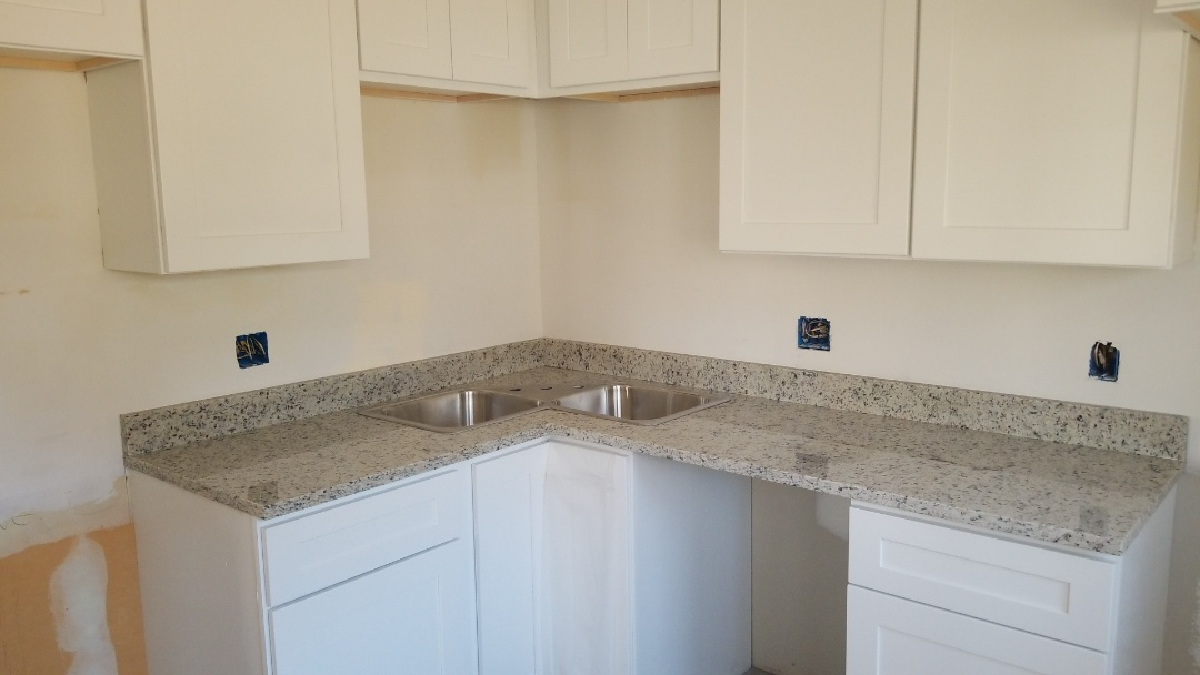 "Rockville, MD - Light Dallas White Granite Counter tops with 4"" backsplash"