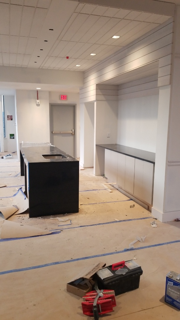 Washington, DC - CAMBRIA CHARSTON COUNTERTOPS WITH WATERFALLS AND LAMINATED EDGE