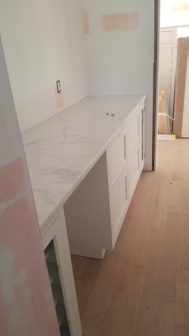 Chevy Chase, MD - Quartzite - Calacatta Covelano Pantry countertops