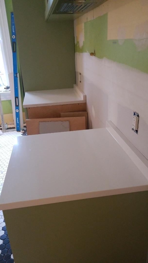 Washington, DC - New countertops  Super White pental quartz