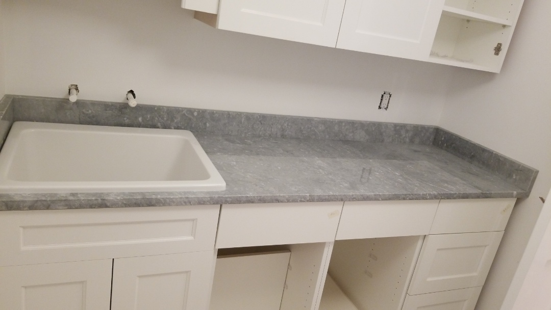 Chevy Chase, MD - Laundry room with drop in sink and Marble - Versilys