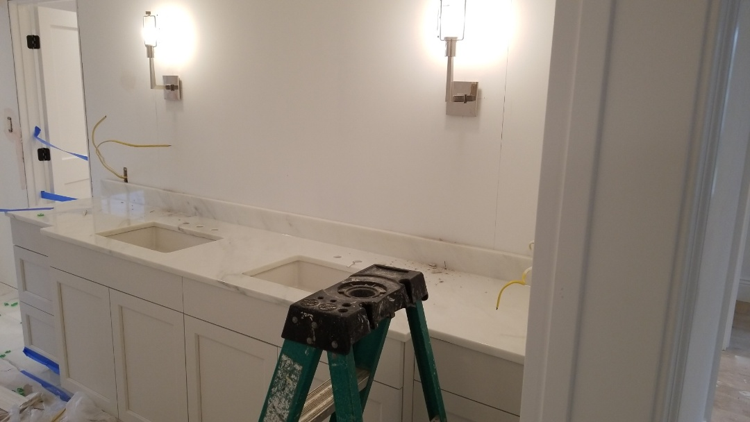 Chevy Chase, MD - Marble - Calacatta Gold double vanity