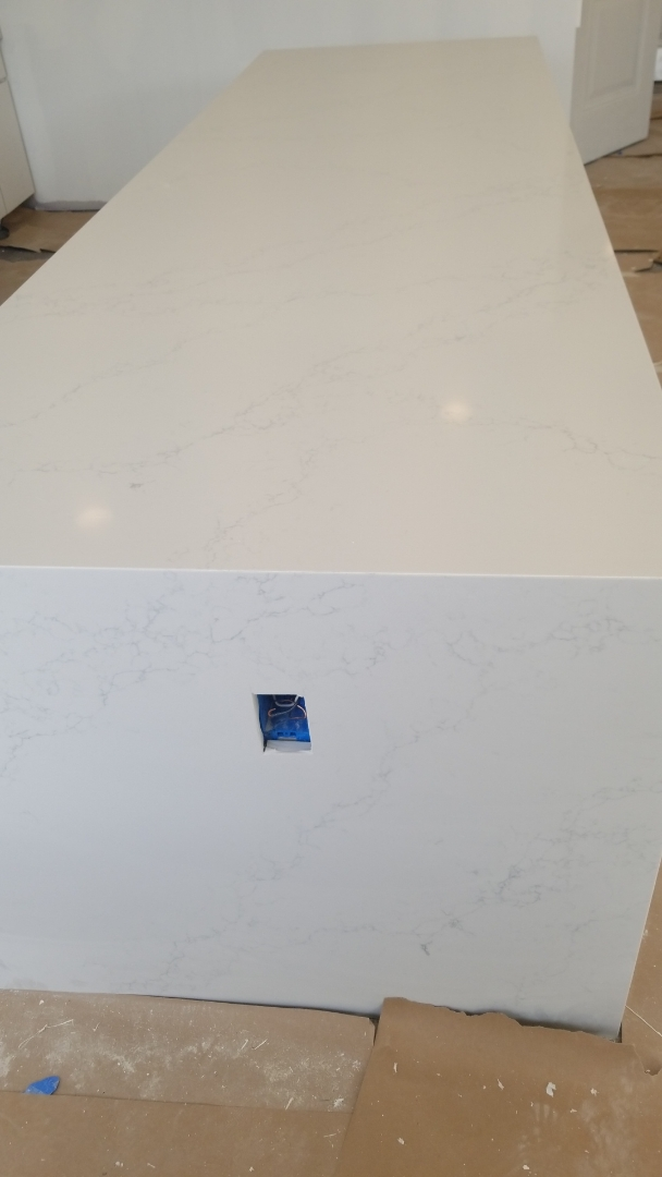 Washington, DC - Daltile NQ91 quartz Waterfall edge - new construction- commercial project