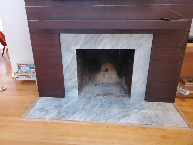 Bethesda, MD - Carrara Marble for fireplace