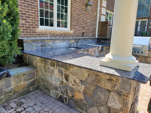 Rockville, MD - Sapphire Blue Polished Granite