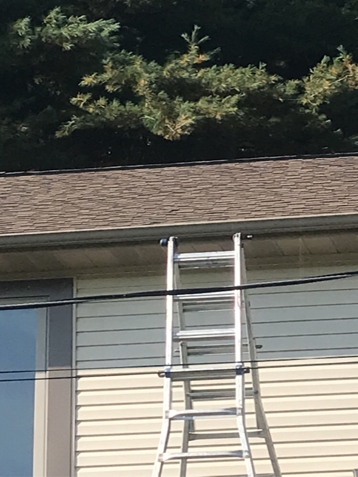 Grove City, PA - Replacing roof sheeting. Humped up roof deck. Roof repair. GAF shingle replacement